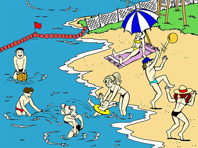 Безопасное поведение на воде летом картинки